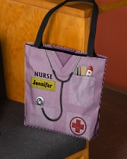 Personalized Nurse Shirt Pink All-over Tote aos-all-over-tote-lifestyle-front-02