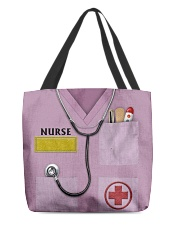 Personalized Nurse Shirt Pink All-over Tote back
