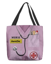 Personalized Nurse Shirt Pink All-over Tote front