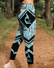 Lab Tech Leather Pattern Print High Waist Leggings aos-high-waist-leggings-lifestyle-21