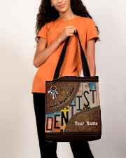 Custom Name Dentist Respect Caring Courage   All-over Tote aos-all-over-tote-lifestyle-front-06