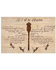 As I Sit In Heaven 17x11 Poster front