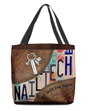 Nail Techs love inspire  All-over Tote front