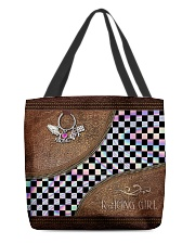 Racing Girl Leather Pattern Print All-over Tote back