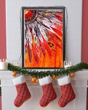 Native American Orange Feather 11x17 Poster lifestyle-holiday-poster-4