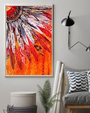 Native American Orange Feather 11x17 Poster lifestyle-poster-1