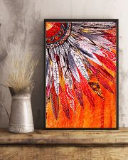 Native American Orange Feather 11x17 Poster lifestyle-poster-3