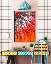 Native American Orange Feather 11x17 Poster lifestyle-poster-6