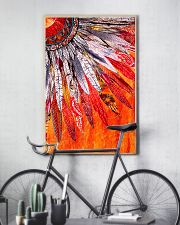 Native American Orange Feather 11x17 Poster lifestyle-poster-7