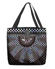 Racing Girl Leather All-over Tote back
