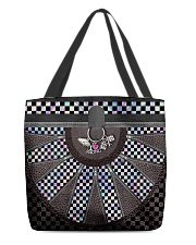 Racing Girl Leather All-over Tote front