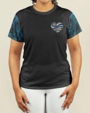 Police Blue Line Strong Heart  Women's AOP T-Shirt S aos-women-short-sleeve-shirt-small-lifestyle-01