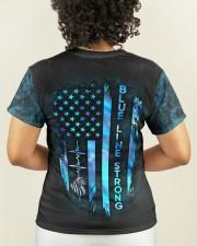 Police Blue Line Strong Heart  Women's AOP T-Shirt S aos-women-short-sleeve-shirt-small-lifestyle-02