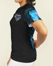Police Blue Line Strong Heart  Women's AOP T-Shirt S aos-women-short-sleeve-shirt-small-lifestyle-03