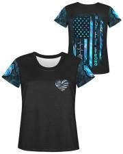 Police Blue Line Strong Heart  Women's AOP T-Shirt S aos-women-short-sleeve-shirt-small-lifestyle-05