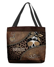 Skull Bad Moms Club All-over Tote front