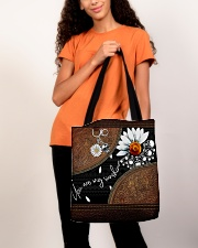 Daisy Skull You Are My Sunshine All-Over All-over Tote aos-all-over-tote-lifestyle-front-06