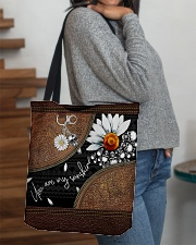 Daisy Skull You Are My Sunshine All-Over All-over Tote aos-all-over-tote-lifestyle-front-09