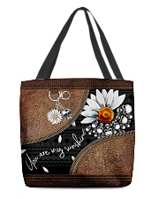 Daisy Skull You Are My Sunshine All-Over All-over Tote back