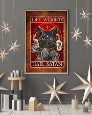 Lift Weights Hail Satan  11x17 Poster lifestyle-holiday-poster-1