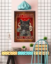 Lift Weights Hail Satan  11x17 Poster lifestyle-poster-6