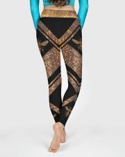 Queen Bee Honey Comb Pattern High Waist Leggings aos-high-waist-leggings-lifestyle-06