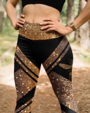 Queen Bee Honey Comb Pattern High Waist Leggings aos-high-waist-leggings-lifestyle-22
