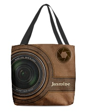 Personalized Camera Lens Printed All-over Tote front