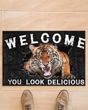 """Tiger You Look Delicious Door Mat Doormat 22.5"""" x 15""""  aos-doormat-22-5x15-lifestyle-front-02"""
