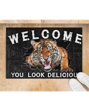 """Tiger You Look Delicious Door Mat Doormat 22.5"""" x 15""""  aos-doormat-22-5x15-lifestyle-front-05"""