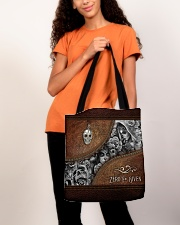 Zero F Given Leather Pattern Print All-over Tote aos-all-over-tote-lifestyle-front-06