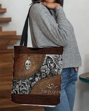 Zero F Given Leather Pattern Print All-over Tote aos-all-over-tote-lifestyle-front-09