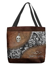 Zero F Given Leather Pattern Print All-over Tote back