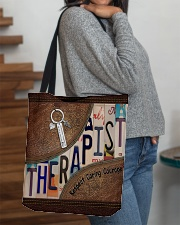 Therapist Respect Caring Courage All-over Tote aos-all-over-tote-lifestyle-front-09
