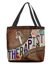 Therapist Respect Caring Courage All-over Tote back