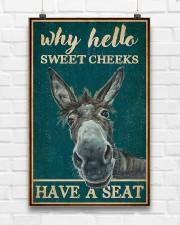 Retro Teal Why Hello Sweet Cheeks Donkey 11x17 Poster aos-poster-portrait-11x17-lifestyle-17