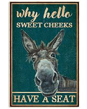 Retro Teal Why Hello Sweet Cheeks Donkey 11x17 Poster front