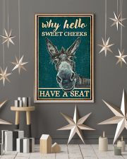 Retro Teal Why Hello Sweet Cheeks Donkey 11x17 Poster lifestyle-holiday-poster-1