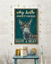 Retro Teal Why Hello Sweet Cheeks Donkey 11x17 Poster lifestyle-holiday-poster-3