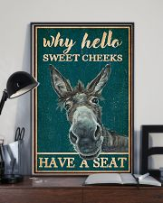 Retro Teal Why Hello Sweet Cheeks Donkey 11x17 Poster lifestyle-poster-2