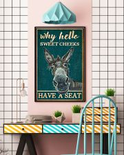 Retro Teal Why Hello Sweet Cheeks Donkey 11x17 Poster lifestyle-poster-6