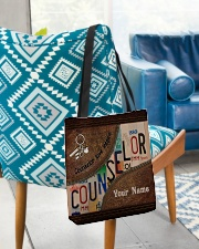 Custom Name Counselor Love Inspire All-over Tote aos-all-over-tote-lifestyle-front-01