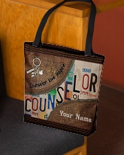 Custom Name Counselor Love Inspire All-over Tote aos-all-over-tote-lifestyle-front-02
