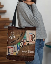 Custom Name Counselor Love Inspire All-over Tote aos-all-over-tote-lifestyle-front-09