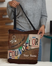 Custom Name Counselor Love Inspire All-over Tote aos-all-over-tote-lifestyle-front-10