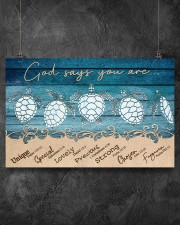 Turtle God Says You Are 17x11 Poster aos-poster-landscape-17x11-lifestyle-12