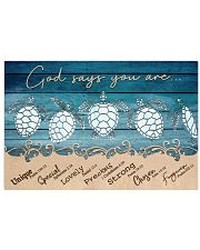 Turtle God Says You Are 17x11 Poster front