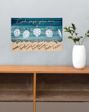 Turtle God Says You Are 17x11 Poster poster-landscape-17x11-lifestyle-24
