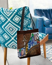 Indigenous leather pattern print All-over Tote aos-all-over-tote-lifestyle-front-01