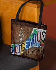 Indigenous leather pattern print All-over Tote aos-all-over-tote-lifestyle-front-02